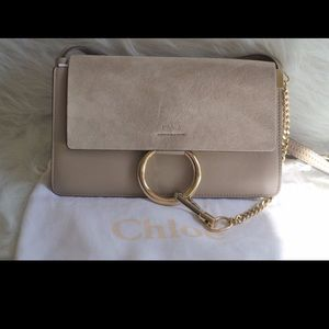 Chloé Faye small shoulder bag Motty Grey